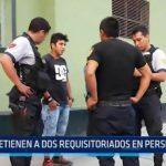 IRAM: Detienen a 2 requisitoriados en persecución