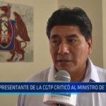 La Libertad: Representante de la CGTP criticó a ministro de Trabajo