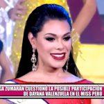 Olga Zumarán cuestionó la posible participación de Dayana Valenzuela en el Miss Perú
