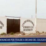 Trujillo: Denuncian por fraude a decano del Colegio de Abogados