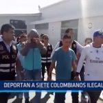 Trujillo: Deportan a 7 colombianos ilegales