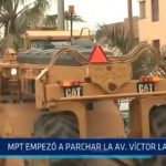 MPT empezó a parchar la avenida Víctor Larco