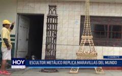 Chimbote: Escultor metálico replica maravillas del mundo