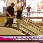 Youtuber se disfrazó de Justin Bieber y causó furor en Costa Rica