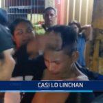 Iquitos: Casi linchan a ladrón