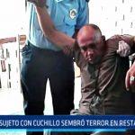 Trujillo: Sujeto con cuchillo sembró terror en cevichería