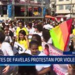Brasil: Habitantes de favelas protestan contra violencia