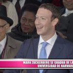 Mark Zuckerberg se gradúa en la Universidad de Harvard