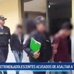 Moche: Capturan a adolescentes acusados de asaltar a transeúnte