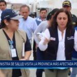 Chepén: Ministra de Salud visita la provincia más afectada por dengue