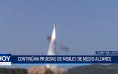 Corea del Norte: Continúan pruebas de misiles de medio alcance