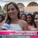 Presentan a candidatas al Miss Teen Model La Libertad 2017