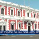 Municipalidad Provincial de Trujillo ocupa penúltimo lugar en dar acceso a información