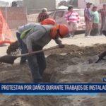 Chimbote: Protestan por daños durante trabajos de instalación de gas