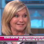 Olivia Newton-John cancela conciertos por un problema de salud