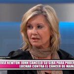 Olivia Newton-John canceló su gira para poder luchar contra el cáncer de mama