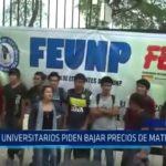 Piura: Universitarios piden bajar precios de matrículas