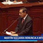 Martín Vizcarra renuncia a Ministerio de Transportes y Comunicaciones