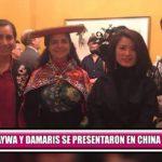 Saywa y Damaris se presentaron en China