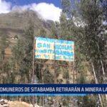 Sitabamba: Comuneros retirarán a minera La Estancia