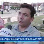 Trujillanos opinan sobre renuncia de Martín Vizcarra