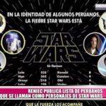 "RENIEC publica lista de peruanos que se llaman como personajes de ""Star Wars"""