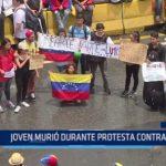 Venezuela: Joven murió durante protesta contra Maduro