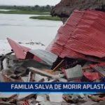 Iquitos: Familia salva de morir aplastada