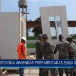 La Esperanza: Alcalde inspecciona viviendas prefabricadas para damnificados
