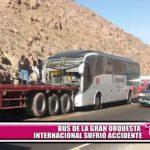 Bus de la Gran Orquesta Internacional sufrió accidente