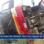 Piura: Decenas de heridos tras volcadura de ómnibus