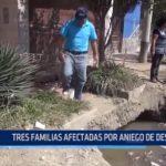 Buenos Aires: Tres familias afectadas por aniego de desagüe