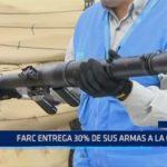 Colombia: FARC entrega 30% de sus armas a la ONU