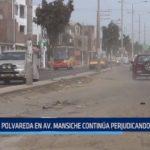 Trujillo: Polvareda en avenida Mansiche continúa perjudicando a vecinos