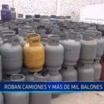 Laredo: Roban camiones y más de mil balones de gas