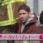 "Captan a Paco Bazán como bombero voluntario en incendio de ""Las Malvinas"""