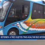 El Milagro: Detienen a tres sujetos tras asaltar bus interprovincial