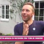 Chris Martin arrasa en Facebook con tema de Shakira