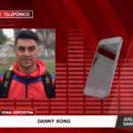 Enlace telefónico con Danny Kong, jugador del club Santa Rosa