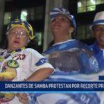 Brasil: Danzantes de samba protestan por recorte presupuestal