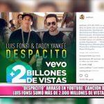 """""""Despacito"""" arrasó en YouTube sumando más de 2.000 millones de vistas"""