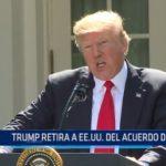 Trump retira a EE.UU. del acuerdo de París