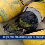 Trujillo: Mujer ocultaba droga en balones de gas