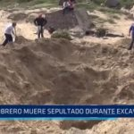 Laredo: Obrero muere sepultado durante excavación