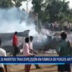India: 25 muertos tras explosión en fábrica de fuegos artificiales