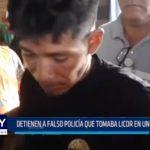 Iquitos: Detienen a falso policía que tomaba licor en un bar flotante