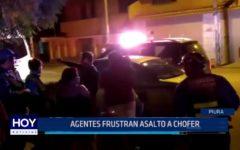 Piura: Agentes frustran asalto a chofer