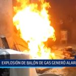Iquitos: Explosión de balón de gas generó alarma