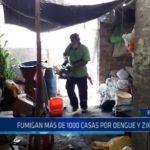 El Milagro: Fumigan más de 1000 casas para prevenir dengue y zika