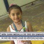 Gimnasia rítmica: Niña gana medalla de oro nacional